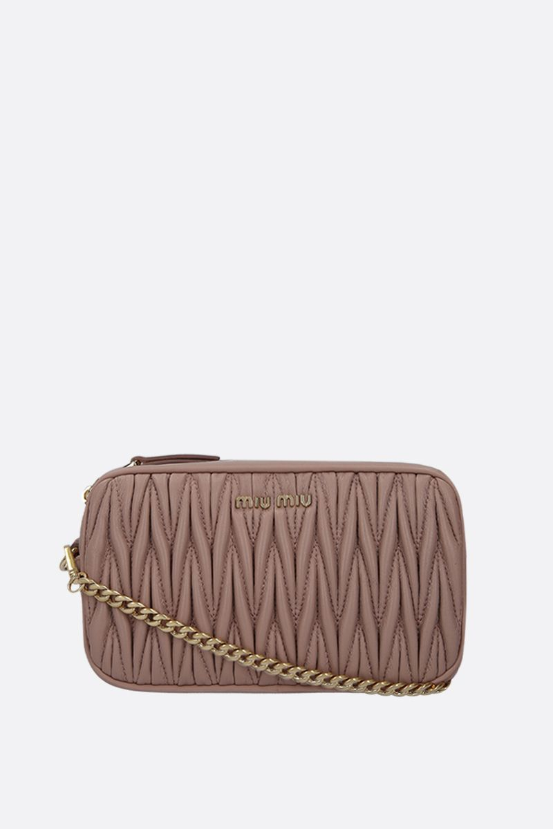 MIU MIU: quilted nappa leather belt bag Color Neutral_2