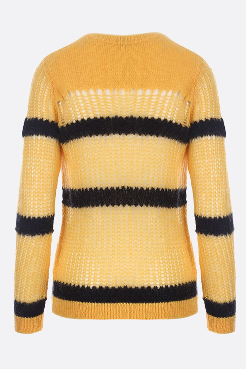 MIU MIU: striped mohair knit pullover Color Yellow_2