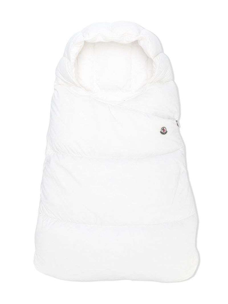 MONCLER KIDS: padded nylon sleeping bag Color White_1