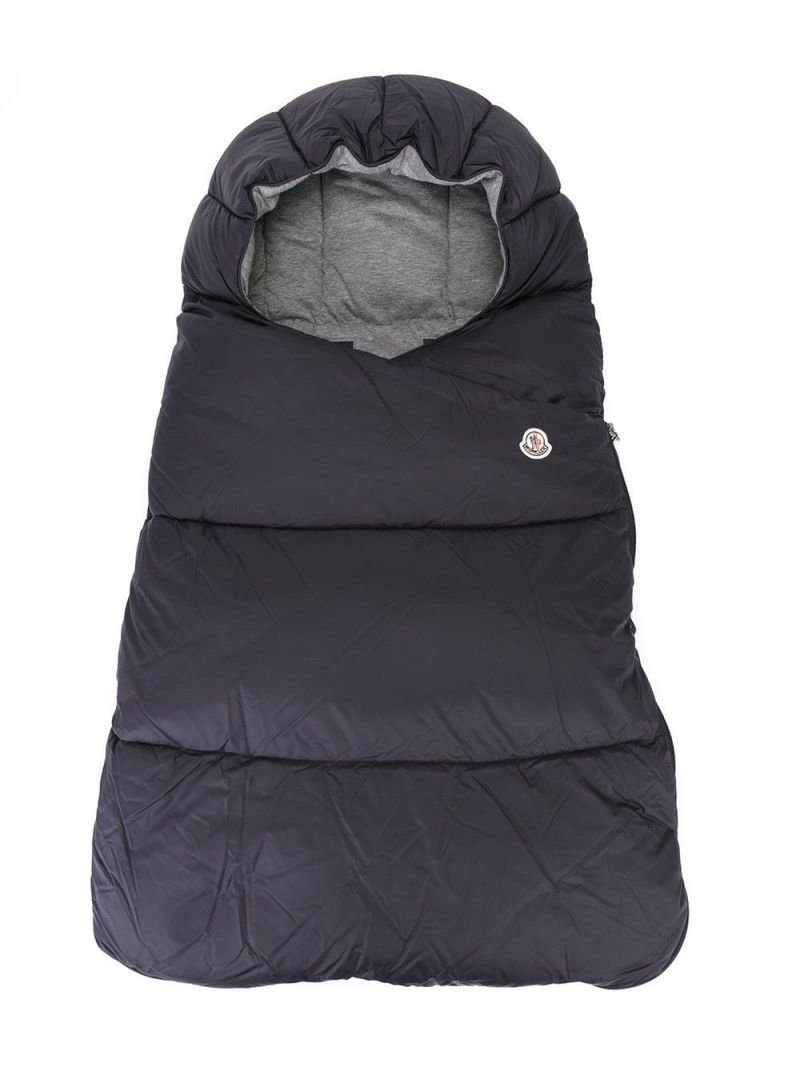 MONCLER KIDS: padded nylon sleeping bag Color Blue_1