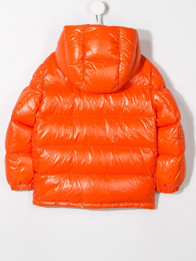 MONCLER KIDS: Ubaye down jacket in shiny nylon Color Red_2