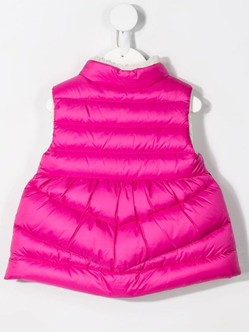 MONCLER KIDS: Lama sleeveless down jacket in nylon Color Pink_2