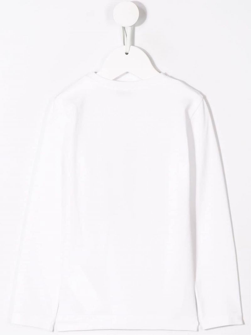 MONNALISA: t-shirt a maniche lunghe in jersey stampa Jerry Colore Bianco_2