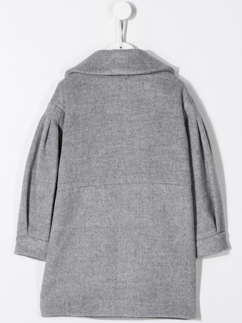 MONNALISA: wool blend double-breasted coat Color Grey_2