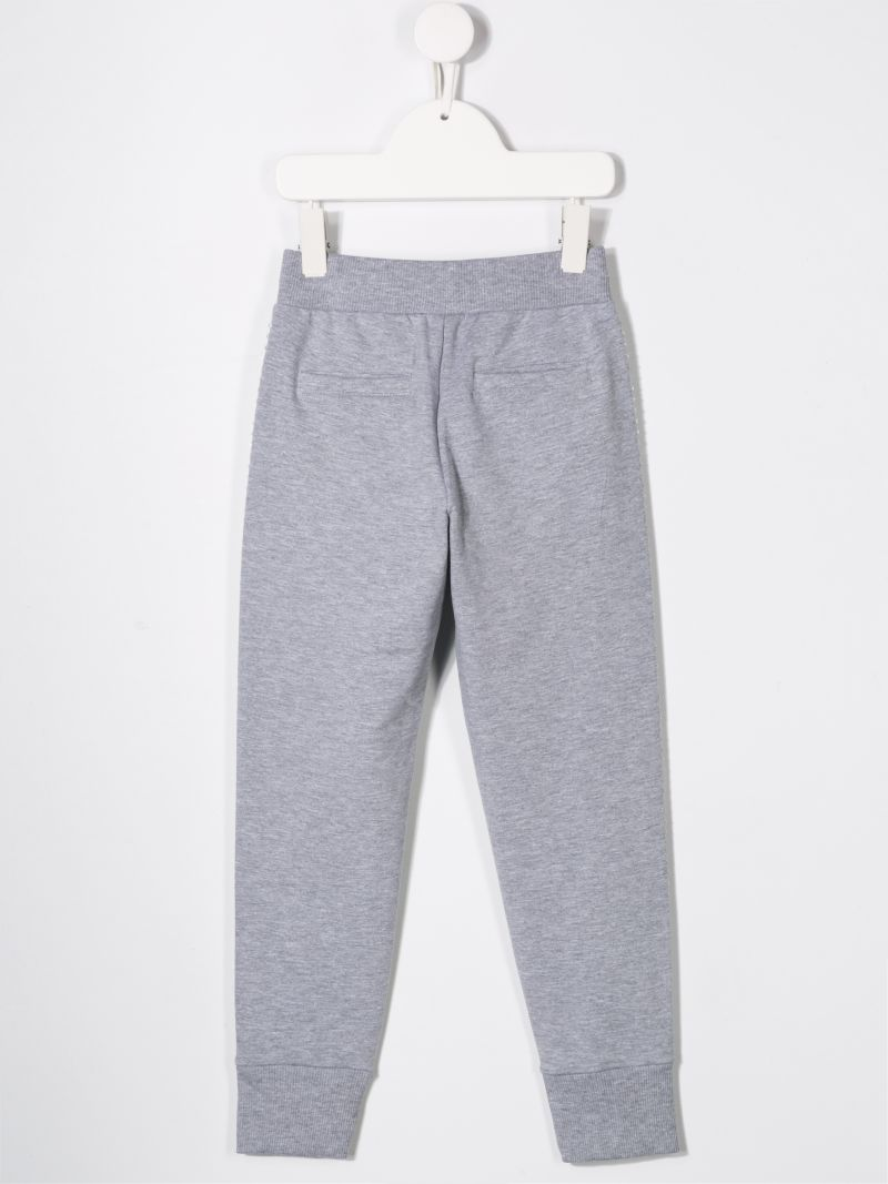 MONNALISA: jersey joggers with studs embellishment Color Multicolor_2