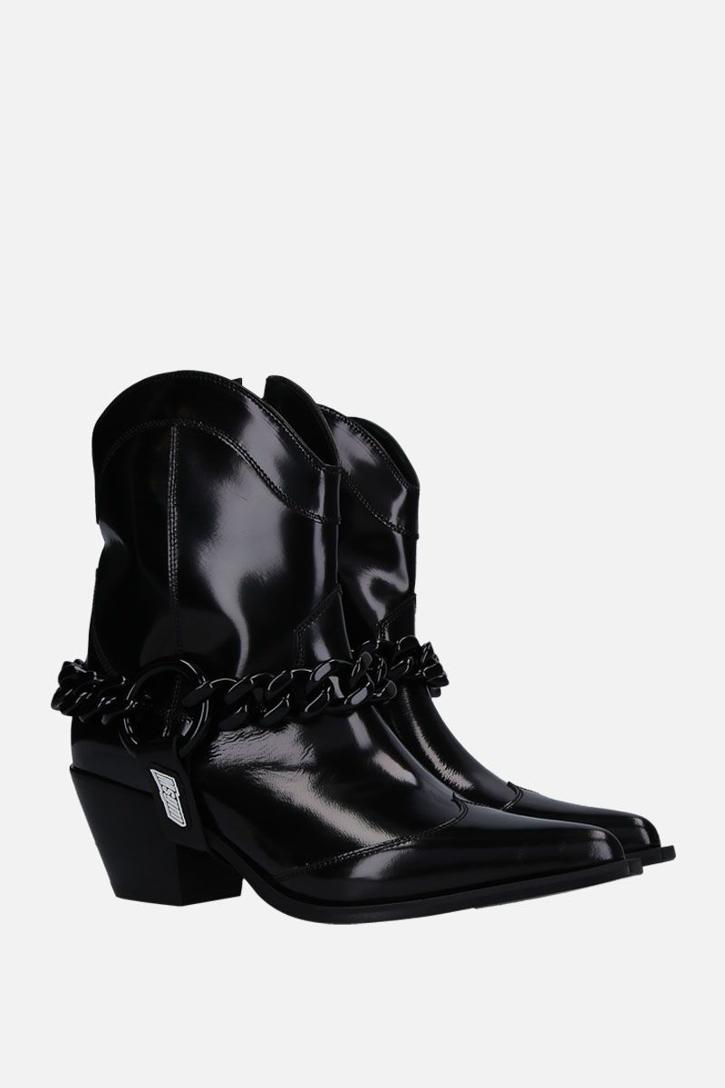 MSGM: shiny leather western boots Color Black_2