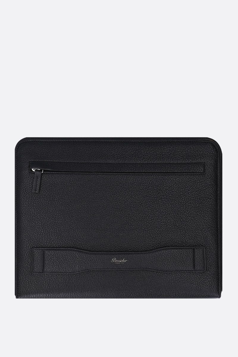 PINEIDER: Essential document holder in textured leather Color Black_3