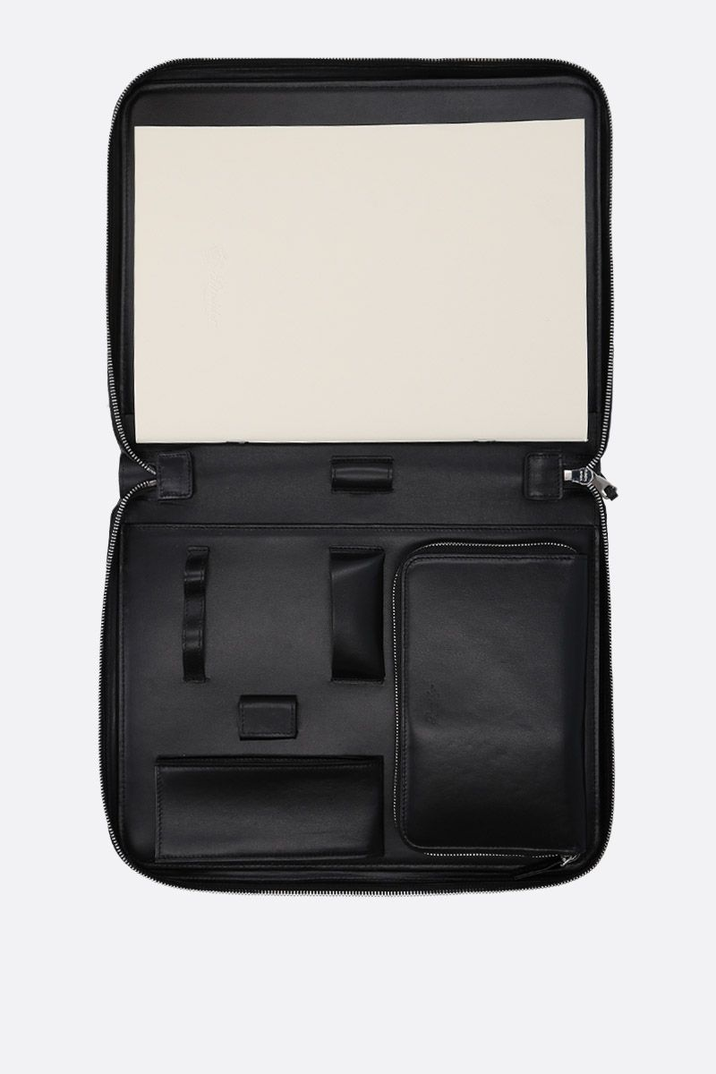 PINEIDER: Essential document holder in textured leather Color Black_4