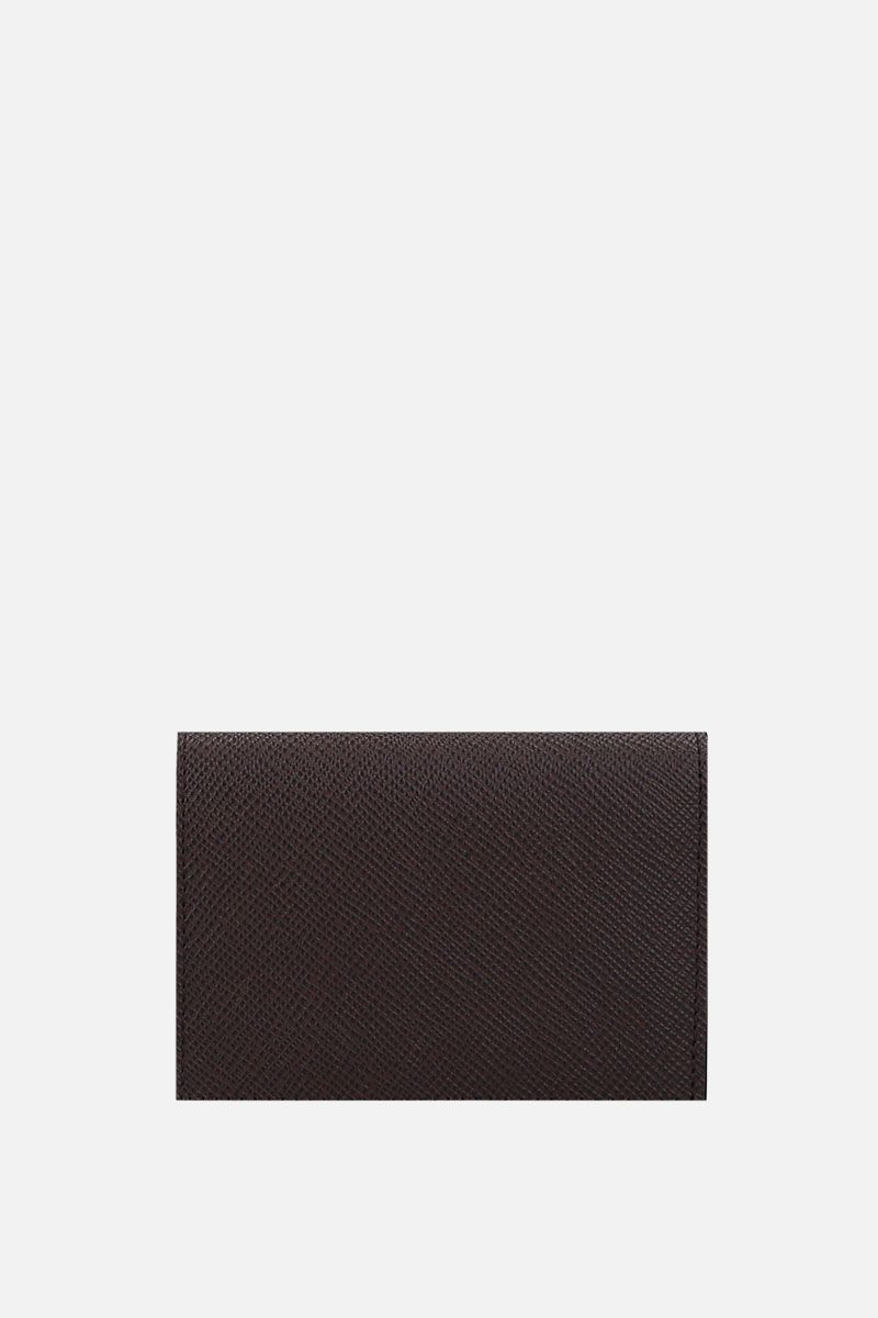 PINEIDER: 720 business card holder in textured leather_4