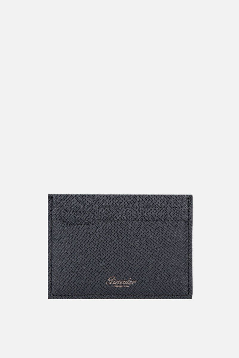 PINEIDER: 720 card case in textured leather Color Black_1