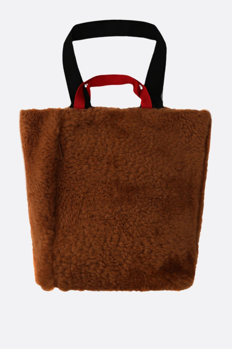PLAN C: shearling shopping bag Color Neutral_1