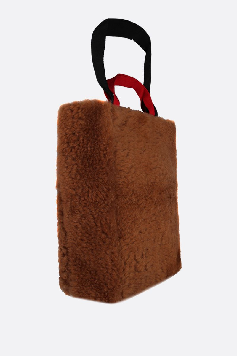 PLAN C: shearling shopping bag Color Neutral_2