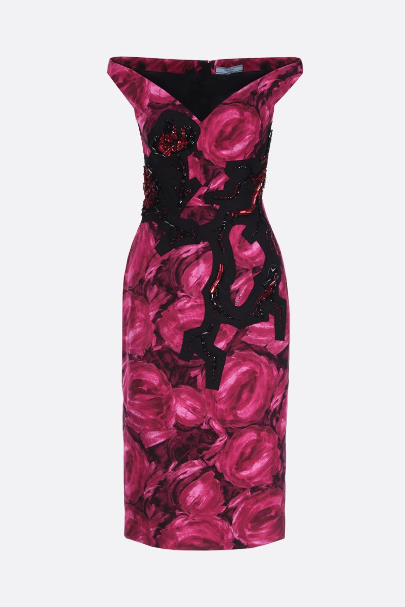 PRADA: printed poplin sleeveless dress_1