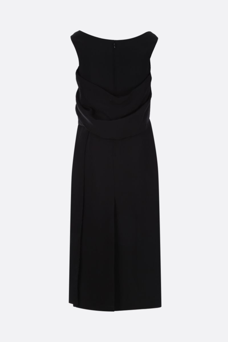 PRADA: carabiner-detailed cady midi dress Color Black_2