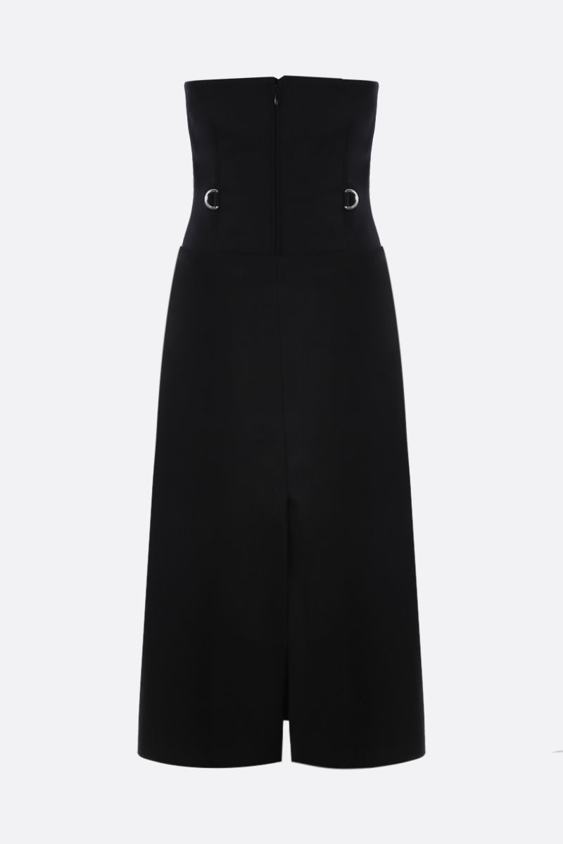 PRADA: wool bustier dress with removable panel Color Black_2