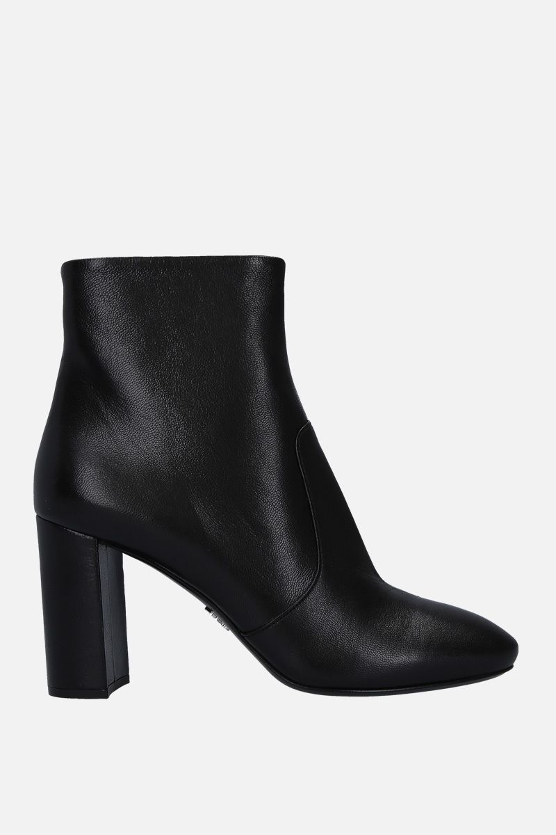 PRADA: soft Madras leather booties Color Black_1