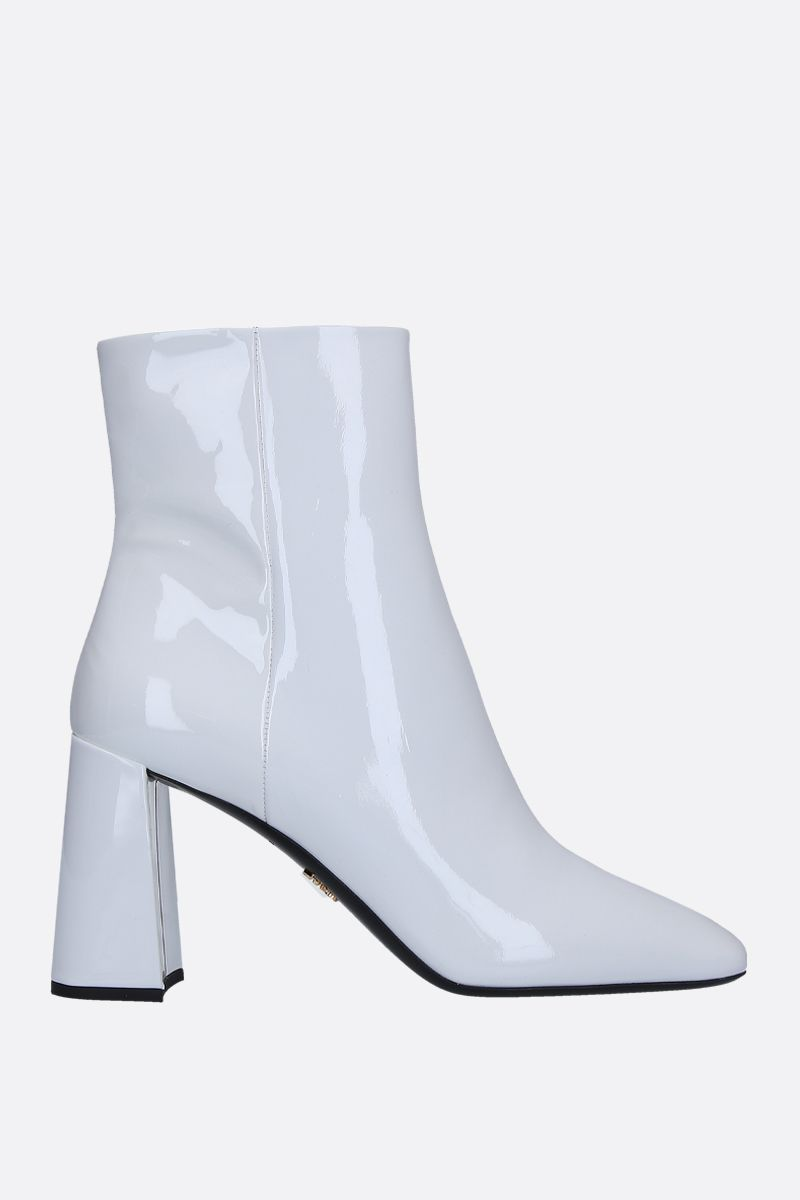 PRADA: patent leather ankle boots Color White_1