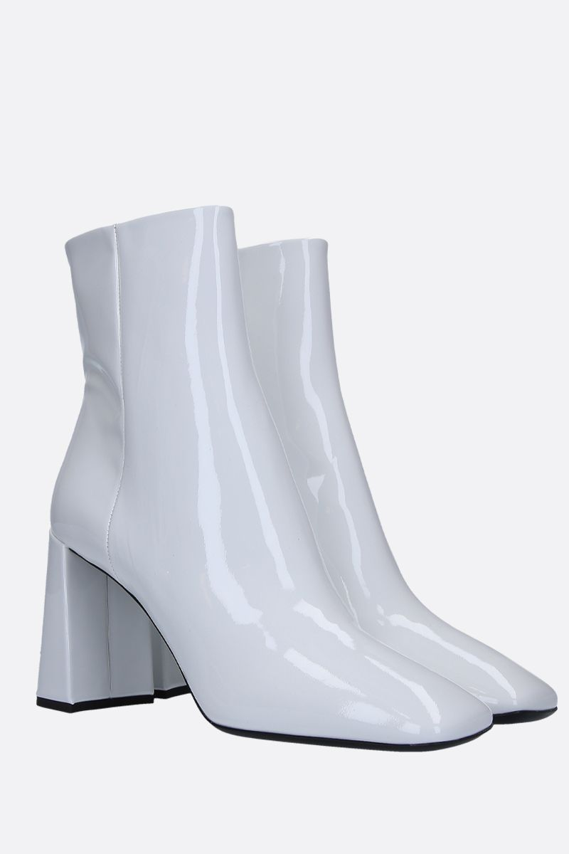 PRADA: patent leather ankle boots Color White_2