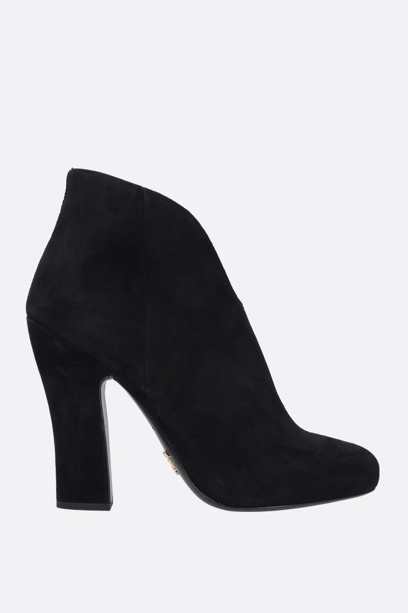 PRADA: velvet suede ankle boots Color Black_1