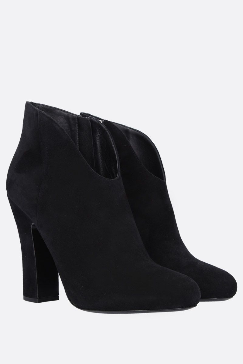 PRADA: velvet suede ankle boots Color Black_2