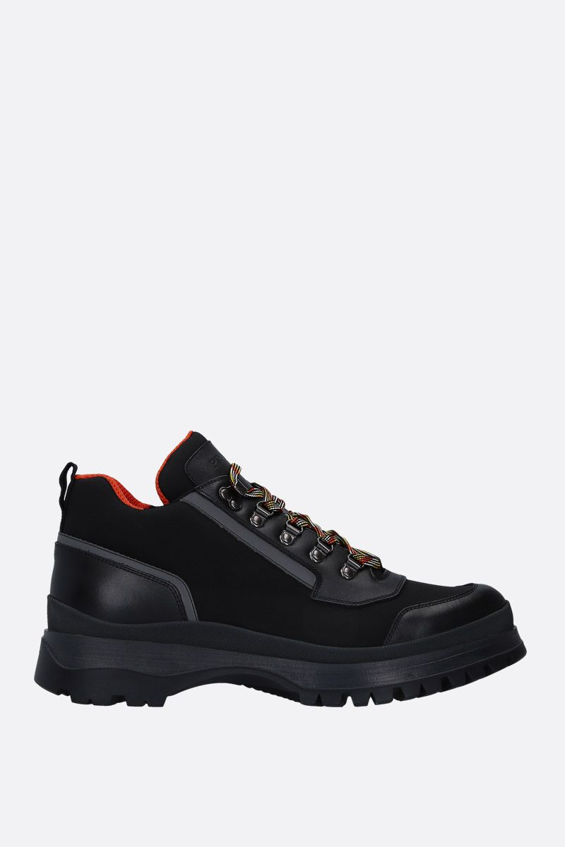 PRADA: nylon and smooth leather ankle boots Color Black_1