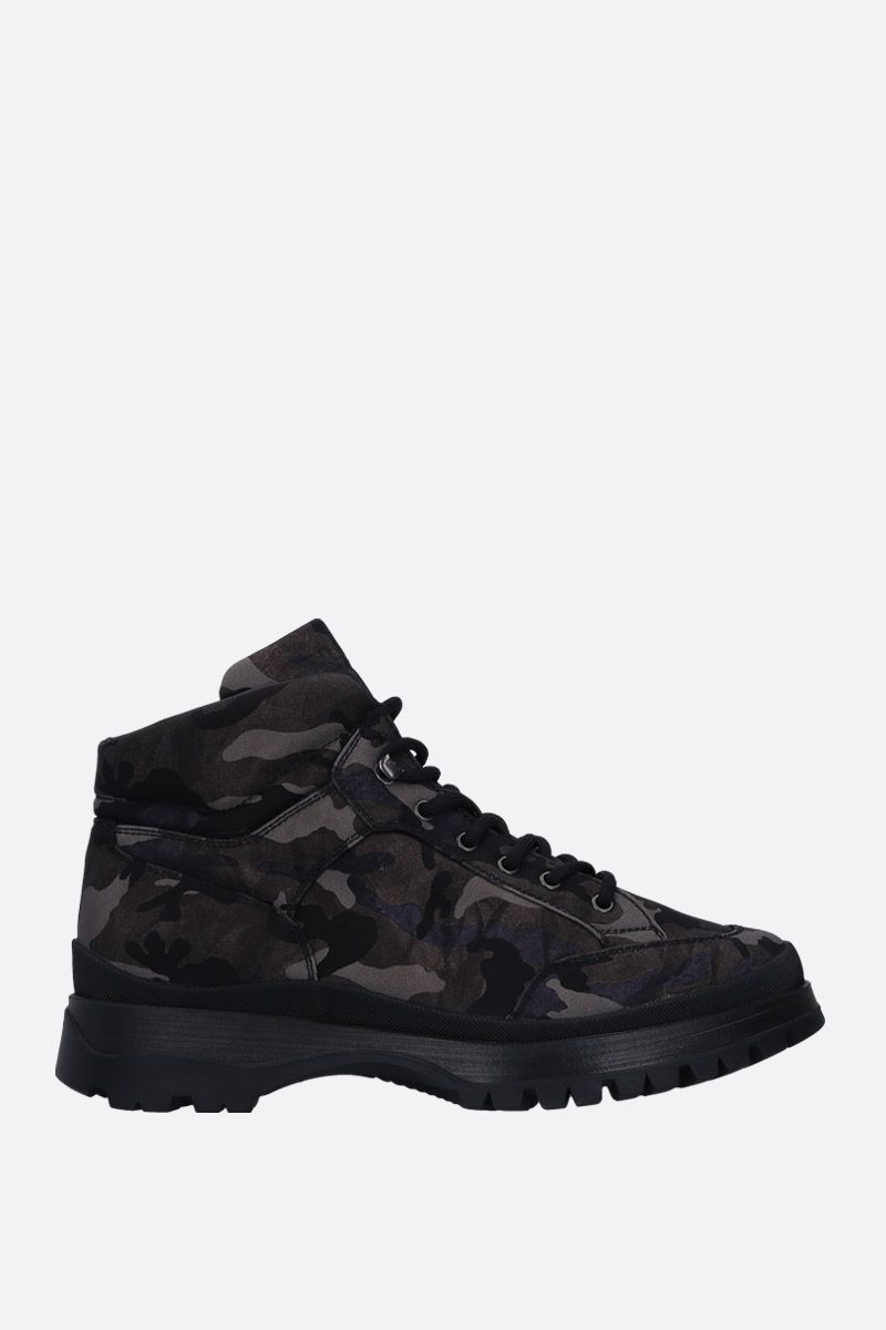PRADA: camouflage tech fabric ankle boots Color Grey_1