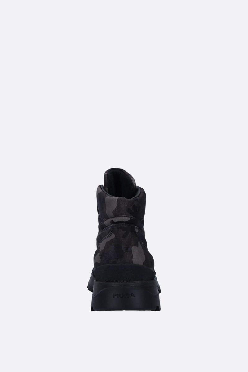 PRADA: camouflage tech fabric ankle boots Color Grey_3