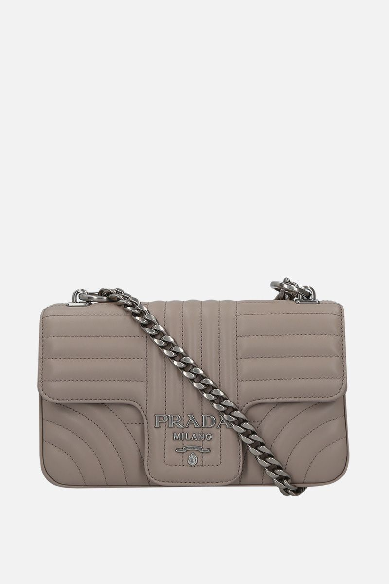 PRADA: Prada Diagramme shoulder bag in quilted leather_1