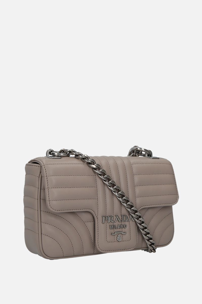 PRADA: Prada Diagramme shoulder bag in quilted leather_2