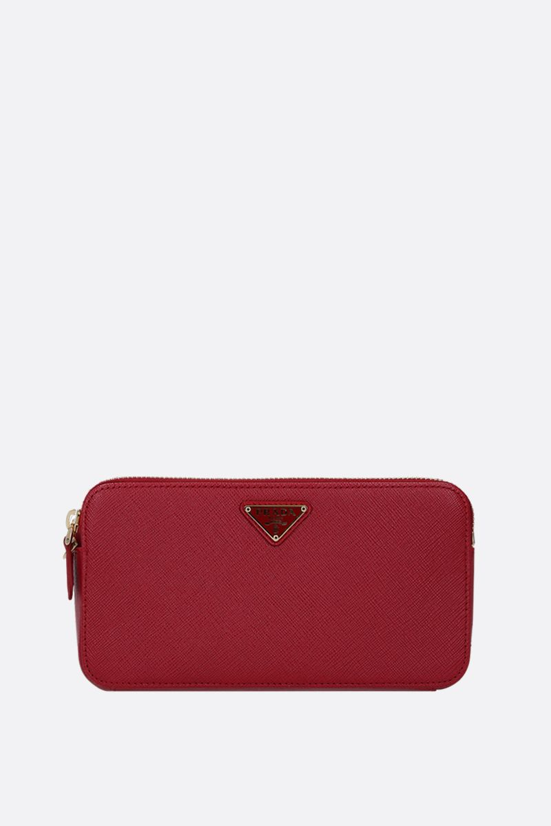 PRADA: Saffiano leather chain wallet Color Red_1