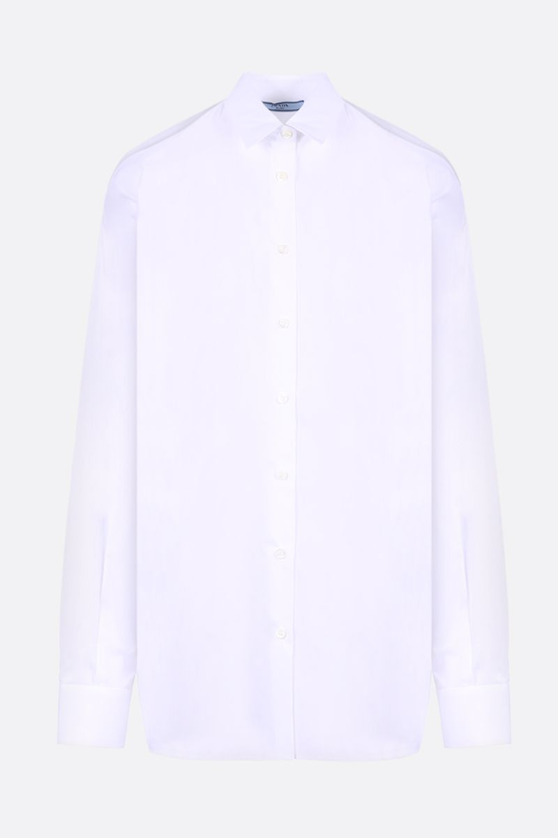 PRADA: poplin shirt with cut-out details Color White_1