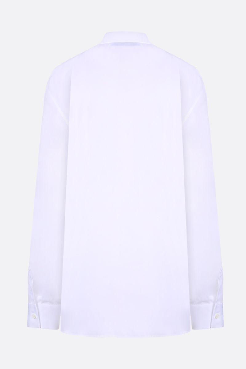 PRADA: poplin shirt with cut-out details Color White_2