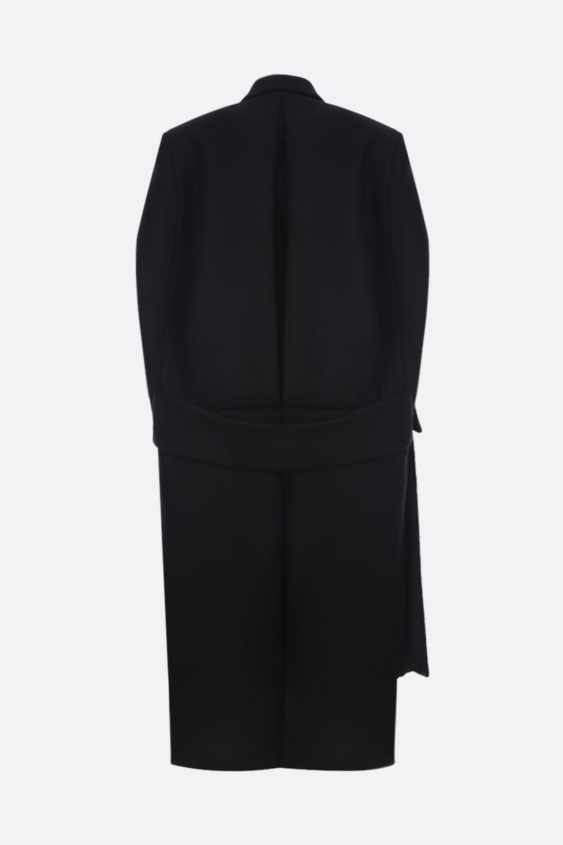 PRADA: wool single-breasted cape Color Black_2