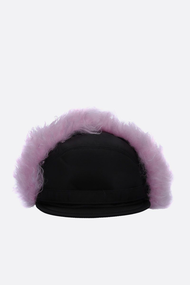 PRADA: nylon baseball cap with ear flaps_1