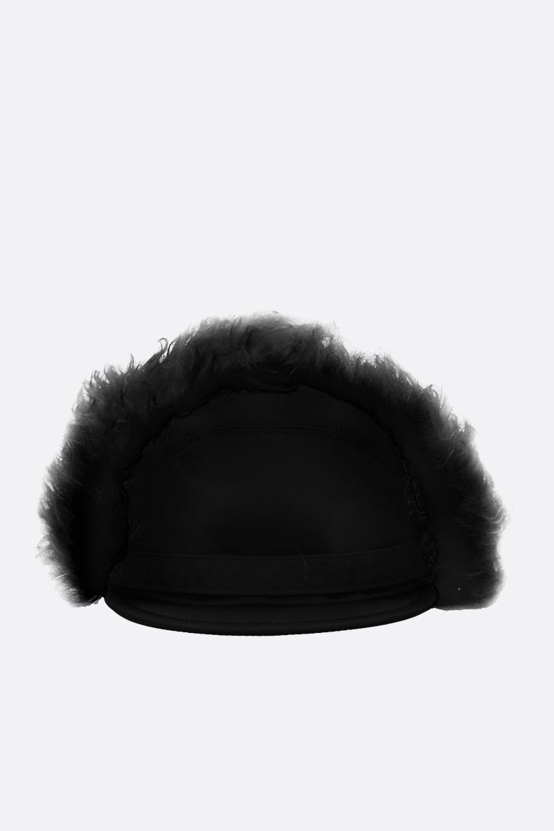 PRADA: nylon baseball cap with ear flaps Color Black_1