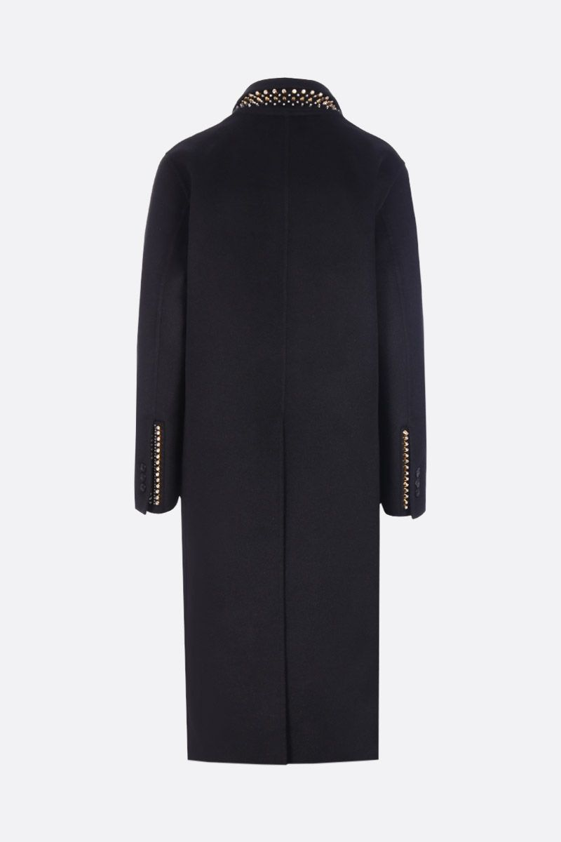 PRADA: wool and angora blend single-breasted coat Color Black_2