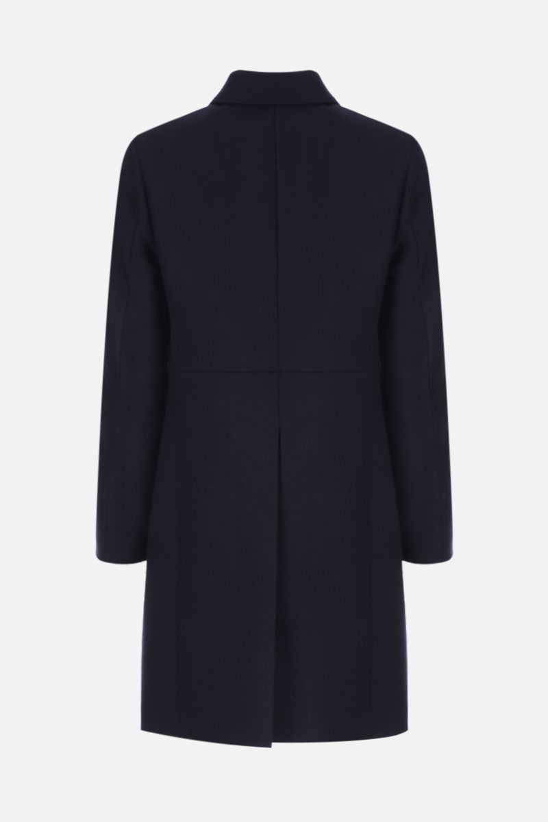 PRADA: double-breasted padded coat in wool Color Blue_3