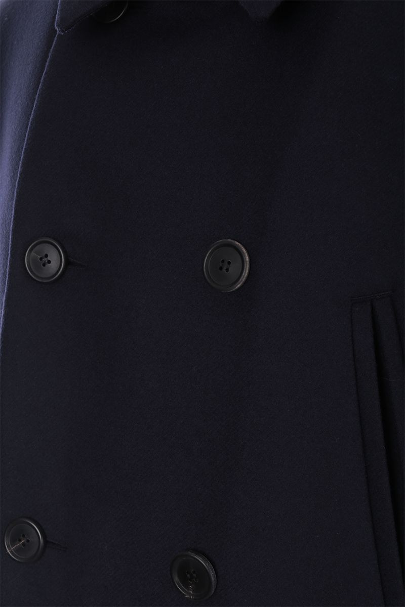 PRADA: double-breasted padded coat in wool Color Blue_4