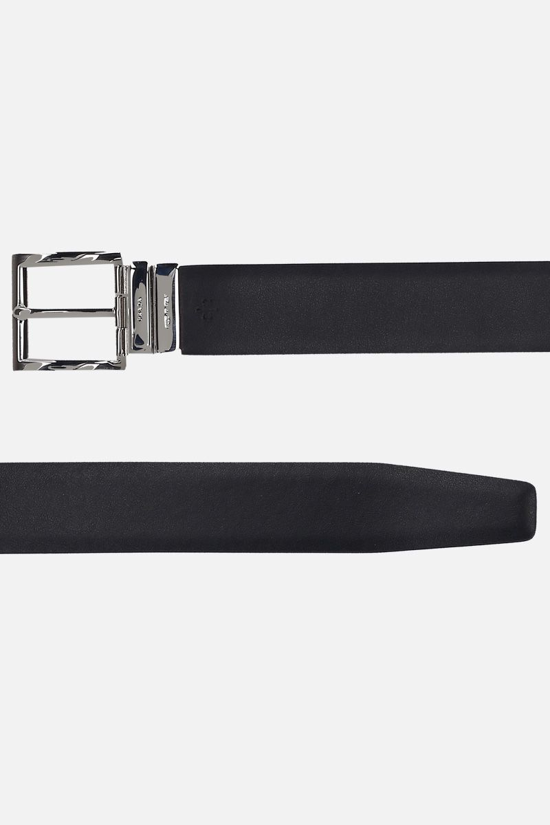 PRADA: double-wrap reversible belt in City leather_2