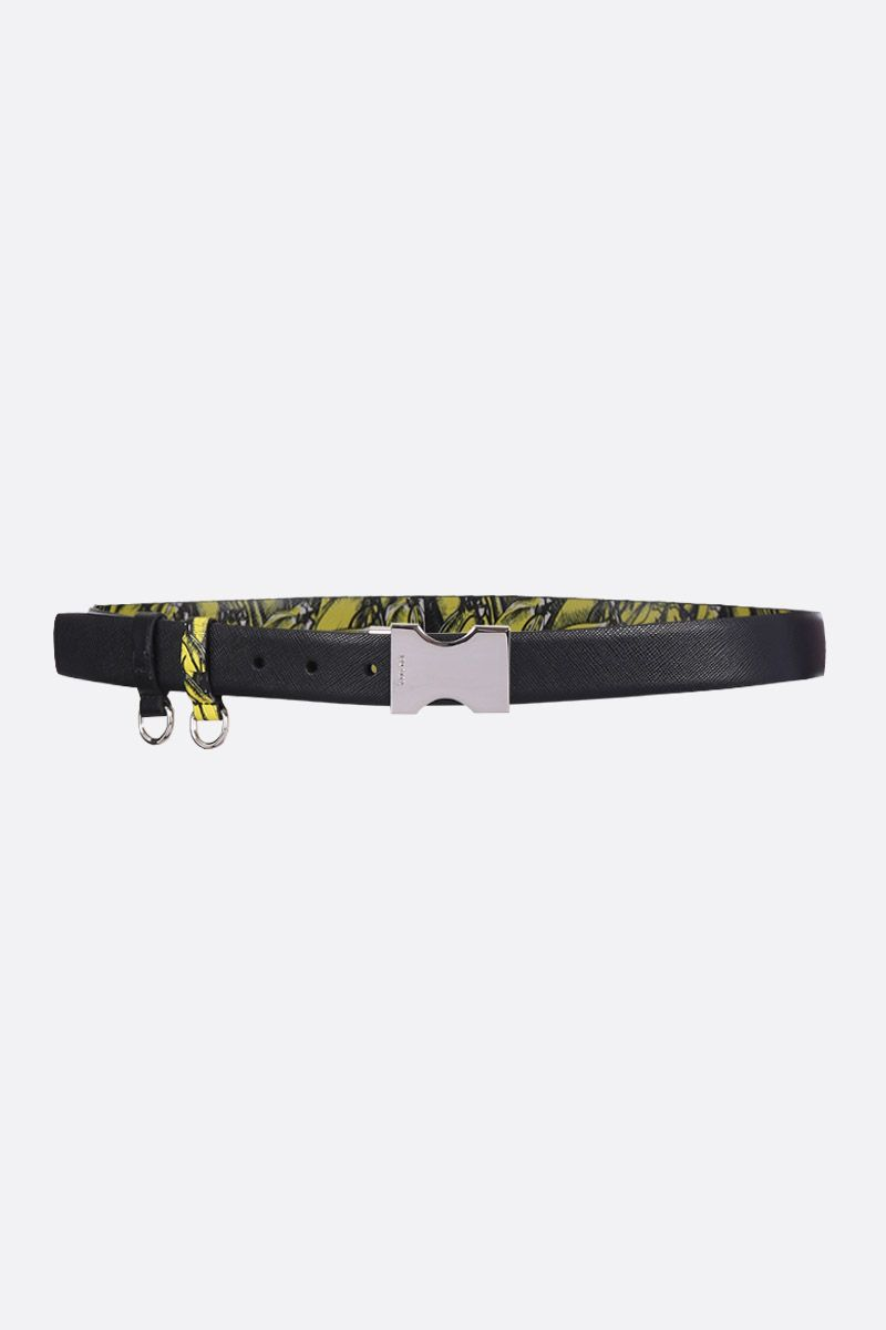 PRADA: Saffiano leather reversible belt_2
