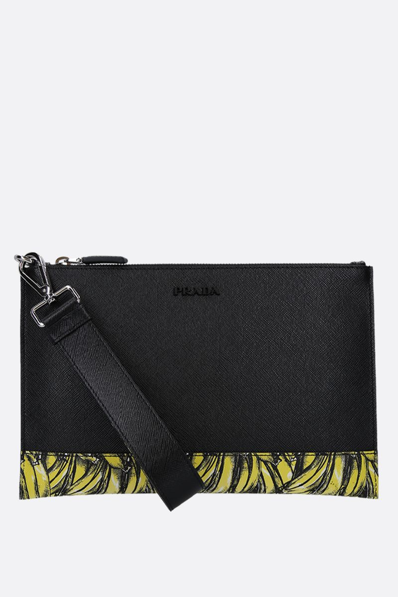 PRADA: clutch in pelle Saffiano_1
