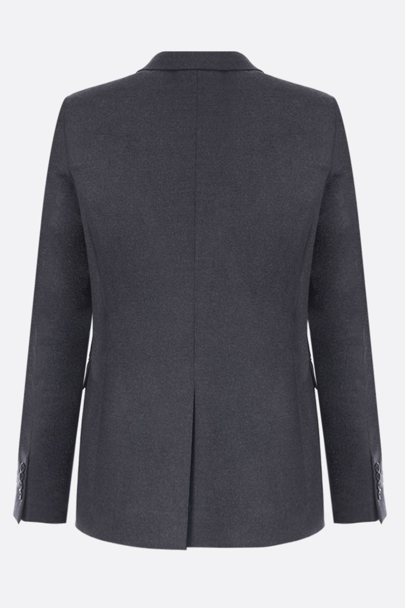 PRADA: two-pieces suit in stretch wool Color Grey_4