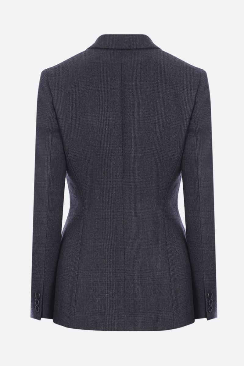PRADA: prince of Wales wool double-breasted jacket Color Black_2