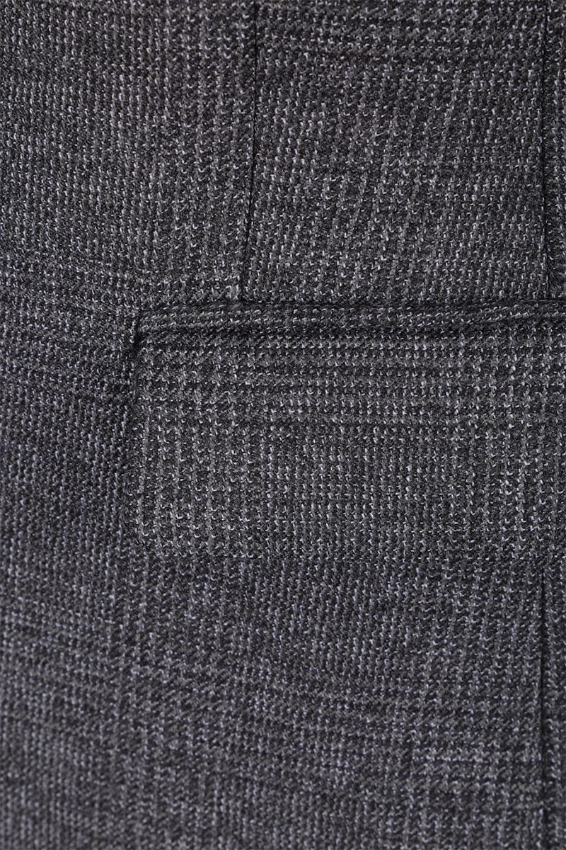 PRADA: single-breasted jacket in prince of Wales stretch wool Color Grey_3