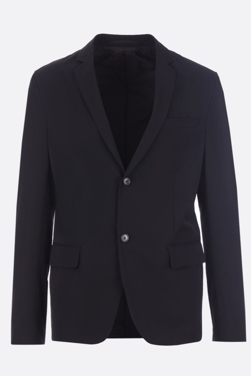 PRADA: single-breasted jacket in technical twill Color Black_1