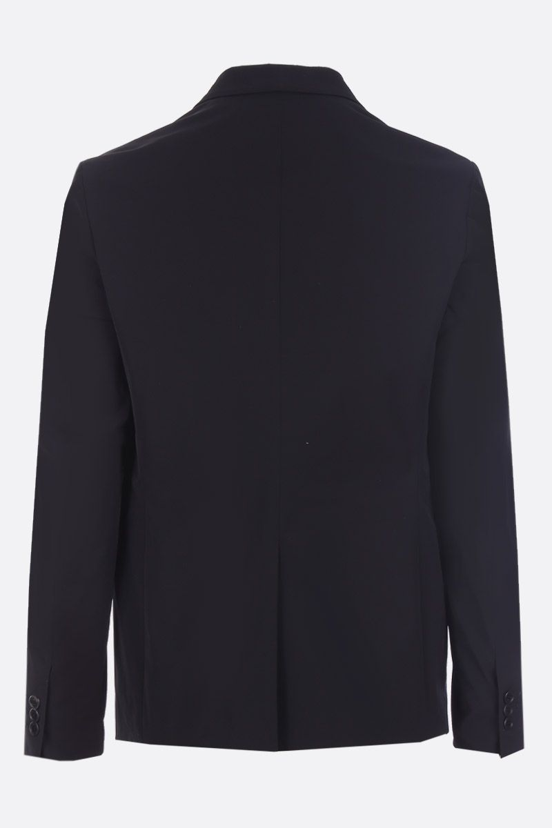 PRADA: single-breasted jacket in technical twill Color Black_2