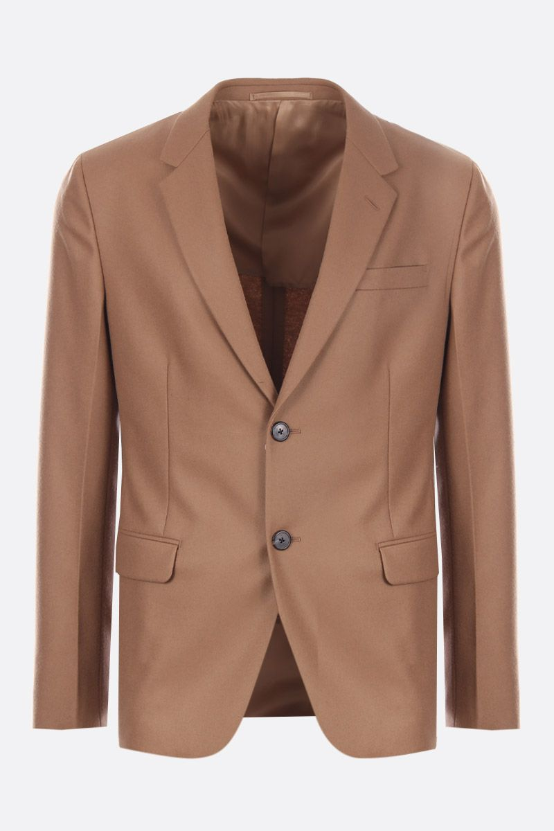 PRADA: wool single-breasted jacket Color Neutral_1