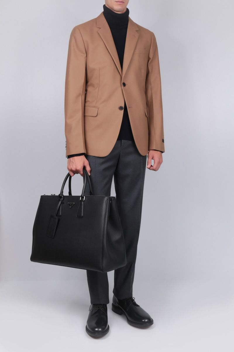 PRADA: wool single-breasted jacket Color Neutral_2