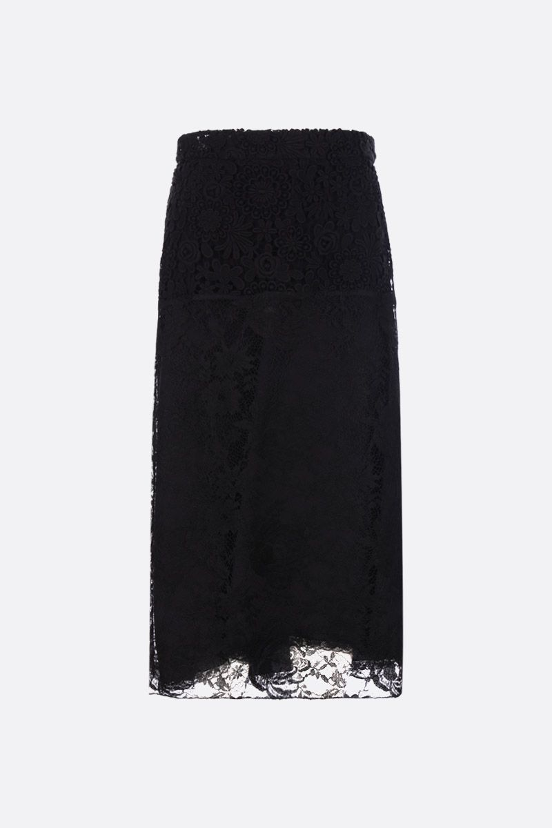 PRADA: floral lace pencil skirt Color Black_1