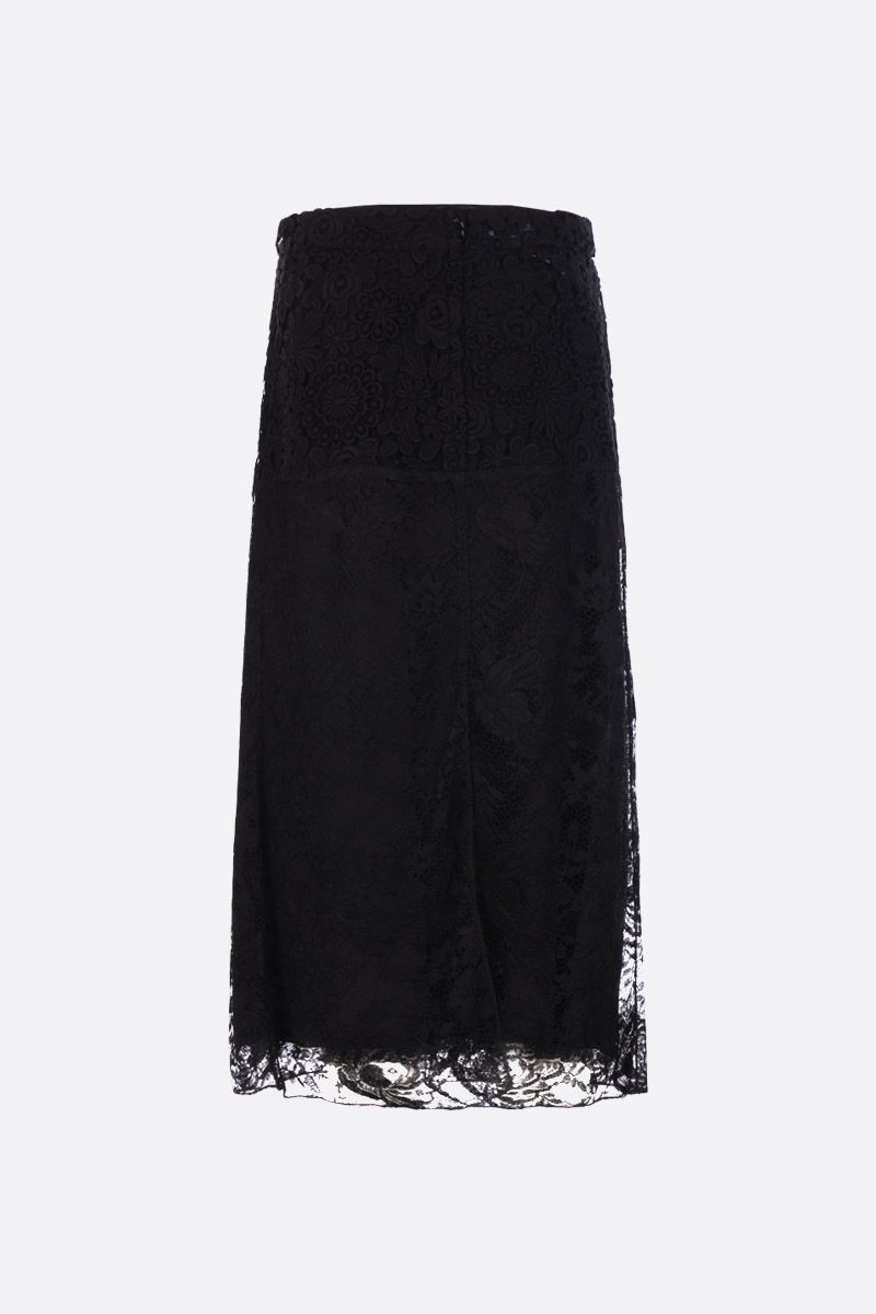 PRADA: floral lace pencil skirt Color Black_2